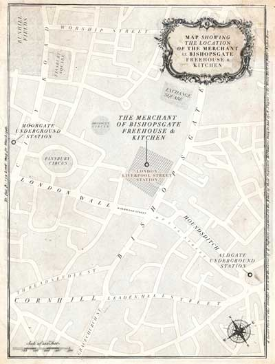 The Merchant of Bishopsgate Freehouse & Kitchen Area Map